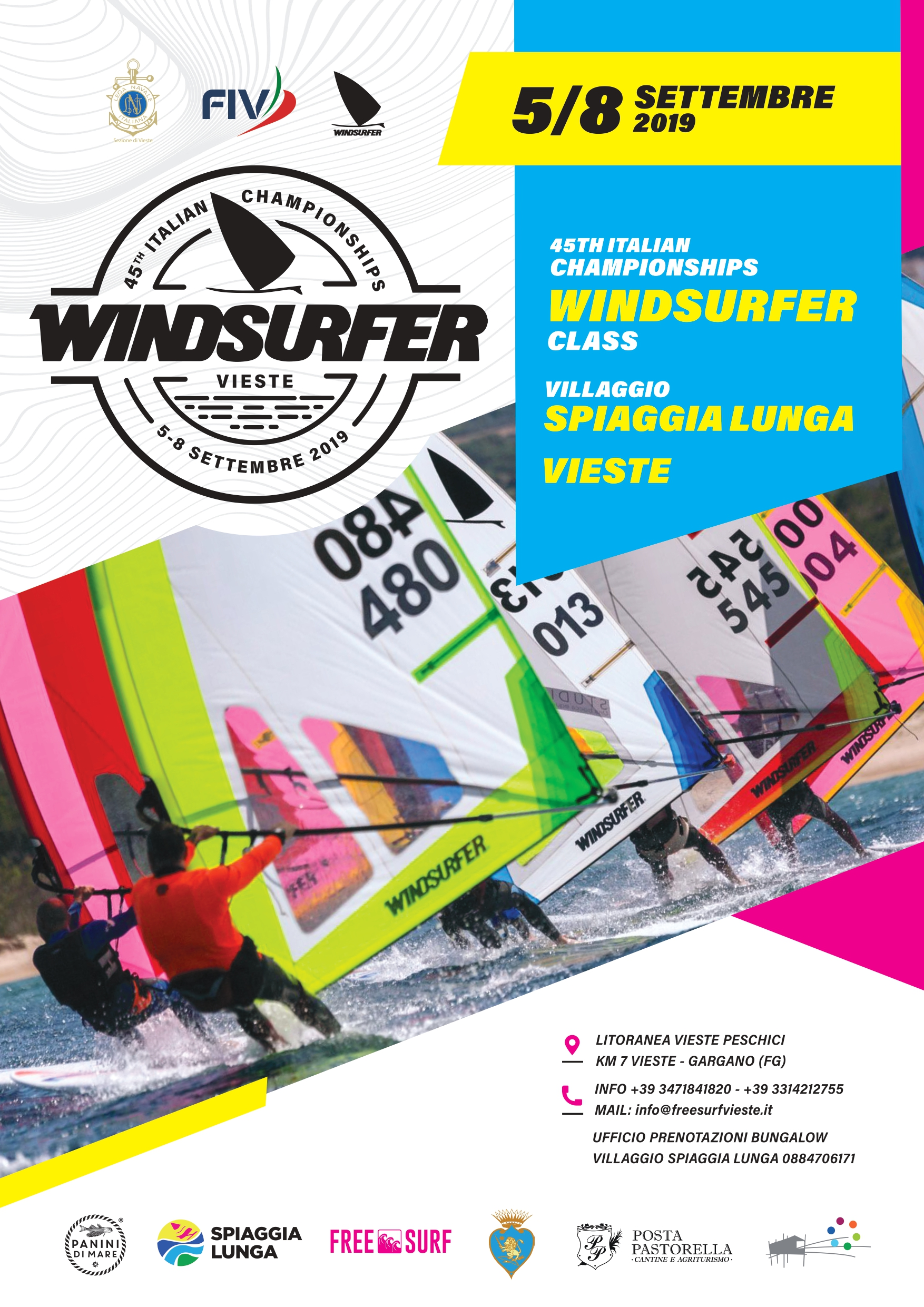 45th Final of the Italian Windsurfer Class Championship.