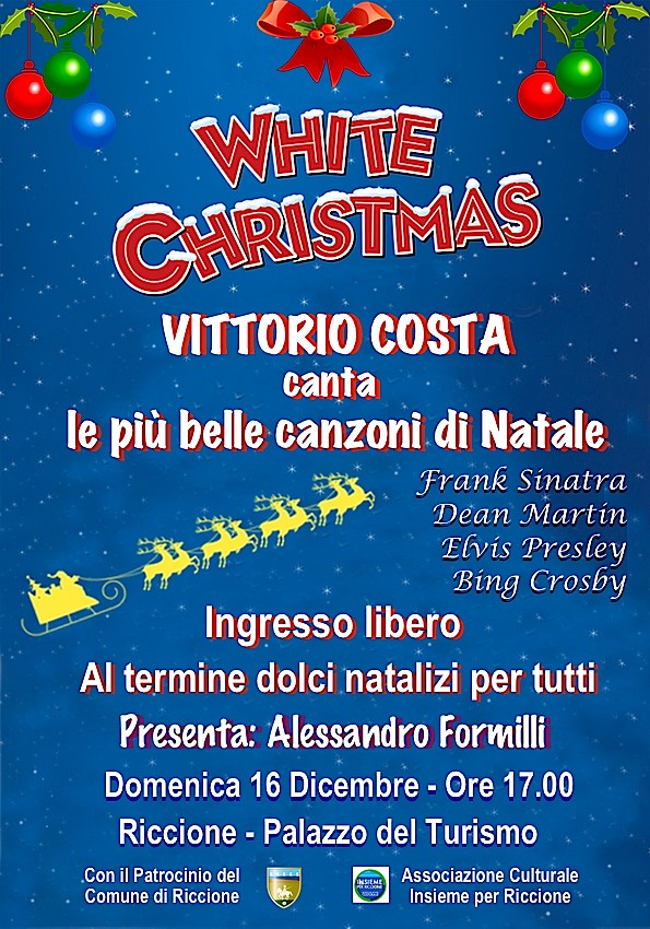 Canzoni Del Natale.White Christmas Vittorio Costa Canta Le Piu Belle Canzoni