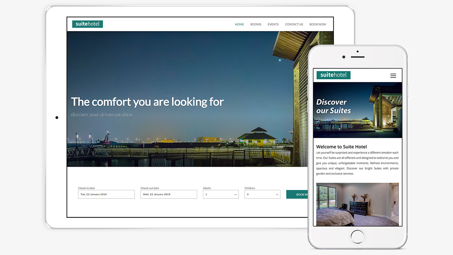 Responsive website for hotels